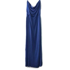 GAP Blue Strapless Long Maxi Dress Size Medium